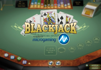 Blackjack game powered by Microgaming